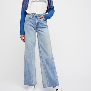 NWT Levi's Altered Wide Leg Jeans 28